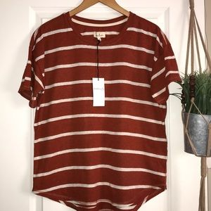 Thread and Supply stripe short sleeve top